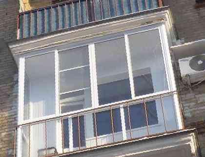 Панорамный балкон, цена 5610 руб. - окна и балконы в калуге.