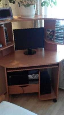 Стол компьютерный, бу, цена 3300 руб. - продажа б/у офисной .