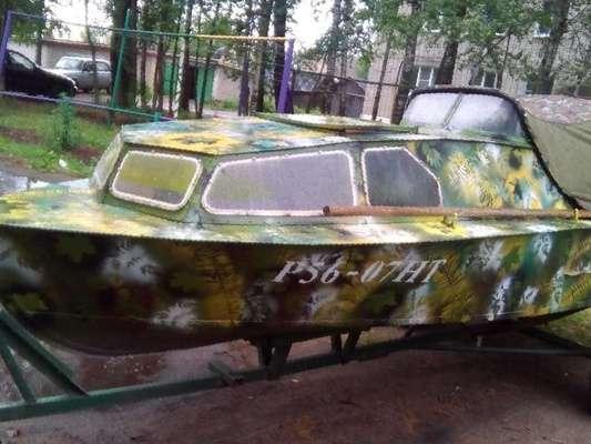 покраска лодки мкм