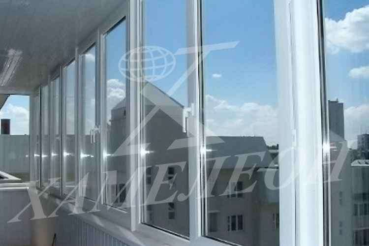 Пвх и алюминиевые окна хамелеон в серпухове - остекление бал.