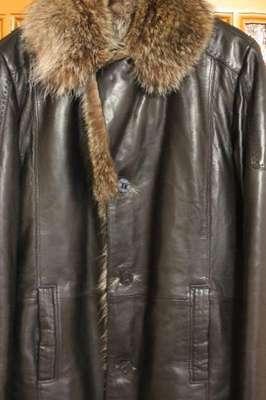 564d2c763f2 Кожаная зимняя мужская куртка с мехом волка - купить в Улу-Теляке ...