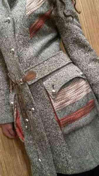 Вяжем вставки для пальто