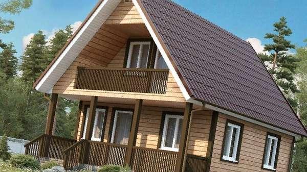 Дом из профилированного бруса 6х7. 5 с балконом, цена 462000.